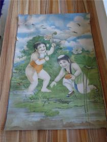 民国时期印刷的和合二仙图年画