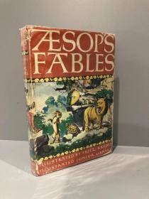 Aesop's Fables(《伊索寓言》,Fritz Kredel插图版,精装带护封,1978年老版书)