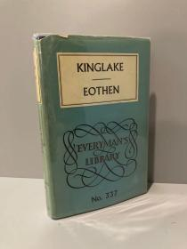 Eothen(A.W.金莱克《日升之处》,Richard Burton盛赞的游记,布面精装难得带护封,1960年老版Everyman丛书)