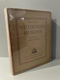 Wuthering Heights(艾米莉·勃朗特《呼啸山庄》,名家Clare Leighton插图,布面精装大开本,罕见带完好护封,1931年珍贵美国初版)