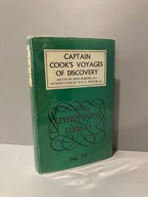 Captain Cook's Voyages of Discovery(《库克船长航海记》,精装,带护封,1961年老版Everyman丛书)