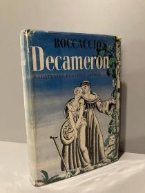 The Decameron(薄伽丘《十日谈》,John Payne著名英译本,Steele Savage经典插图,布面精装毛边本,1931年老版书,漂亮护封)