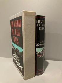 For Whom the Bell Tolls(海明威《丧钟为谁而鸣》,著名的First Edition Library系列,完美复刻,细节考究,带书匣和版本说明,1968年老版本)