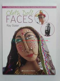 英文原版 手工缝制布娃娃脸 Cloth Doll Faces