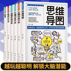 全6册思维导图书籍记忆术正版大全集思维风暴思维逻辑训练记忆书籍中学海马记忆训练能力开发大脑快速超