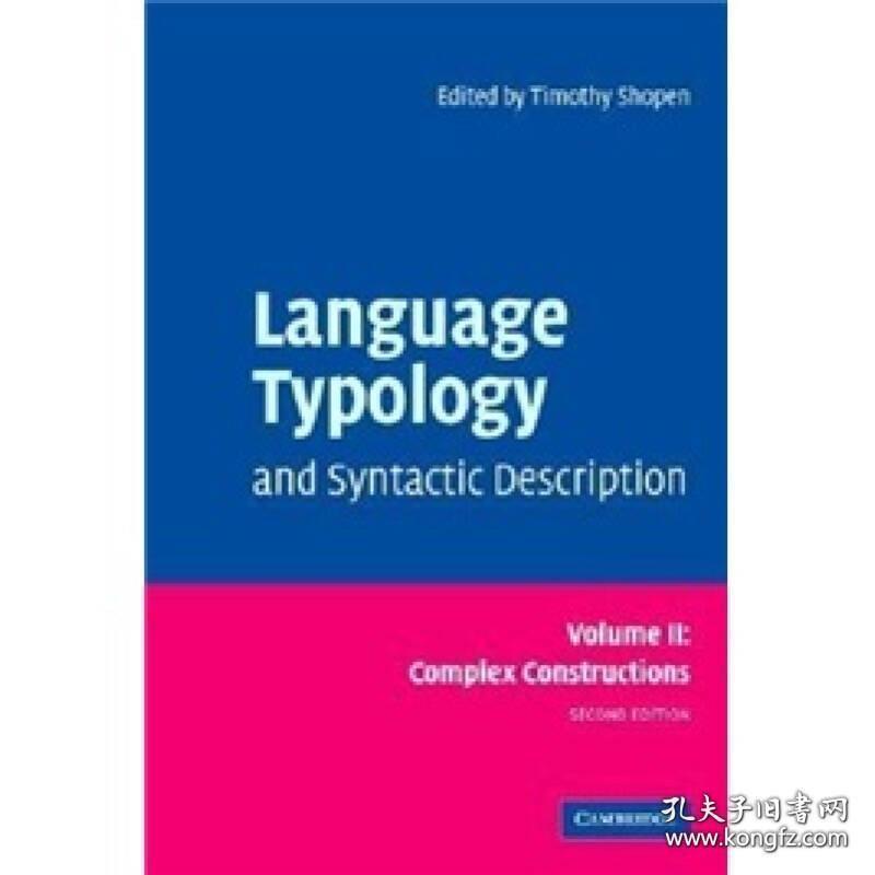 预售 英文预定 Language Typology and Syntactic Descr