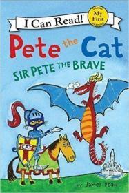 现货正版进口英文原版儿童早教绘本故事书Pete the Cat: Sir Pete 9780062404213