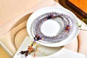 和田玉紫罗兰项链