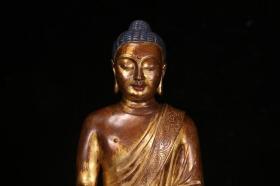 铜鎏金释迦牟尼造像
