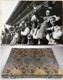 1952年中华人民共和国成立三周年国庆典礼原版照片14张, 锦盒国礼装, 毛主席天安门检阅, 亚洲及太平洋区域和平会议, 和平宾馆,  天安门,  庆祝游行