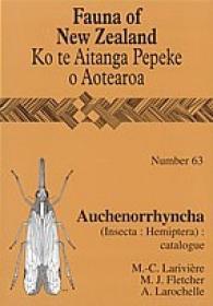 Fauna of New Zealand, No 63: Auchenorrhyncha (Insecta: Hemiptera)-新西兰动物群,63号:Auchenorrhyncha(昆虫纲:半翅目)