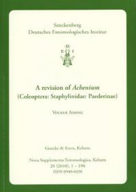 A Revision of Achenium (Coleoptera: Staphylinidae: Paederinae)-鞘翅目:隐翅虫科:隐翅虫亚科