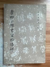 正版 历代碑帖法书选:唐柳公权书玄秘塔碑