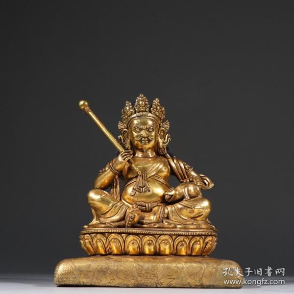 鎏金黄财神造像