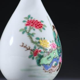 粉彩人物纹玉壶春瓶