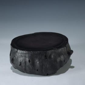 旧藏【老端石 树桩纹 文房砚台】