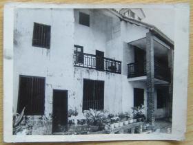 民国建筑老照片二张 相片图片 影像写真资料