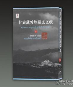 甘肃藏敦煌藏文文献.30.甘肃省图书馆卷