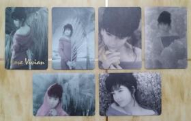 90年代YES明星卡—周慧敏(5张)