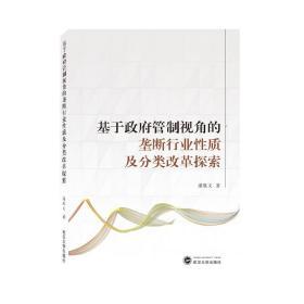基于政府管制视角的垄断行业性质及分类改革探索  潘胜文 著 武汉大学出版社