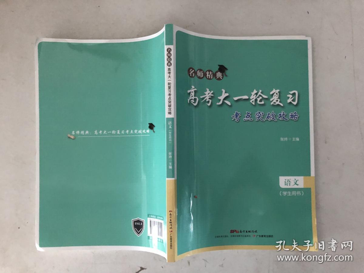 名师精典 高考大一轮复习 考点突破攻略 语文 学生用书·