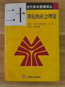 二十世纪的社会理论/当代学术思潮译丛
