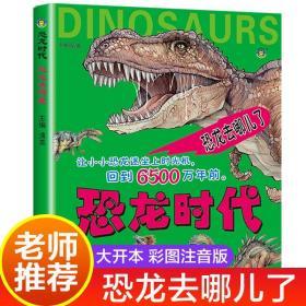 恐龙时代恐龙书儿童绘本 幼儿恐龙百科全书注音版读物3-6-7岁认知恐龙的书本幼儿园科普书籍系列世界王国大百科儿童版图书去哪儿了