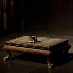 清代榆木茶桌炕桌