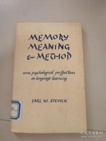 memory, meaning & method 记忆,意义和方法