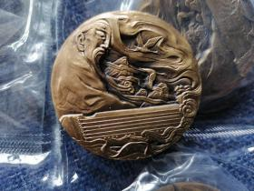 沈阳造币厂 琴圣小铜章 直径4.5CM 重约80克 不带证书 手机实拍图