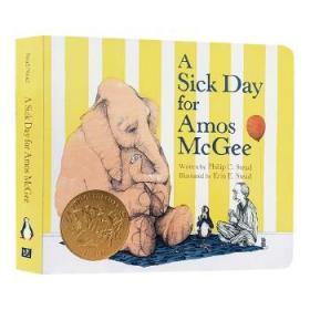 阿莫的生病日 英文原版 A Sick Day for Amos McGee 凯迪克奖绘本 爱与关怀 儿童英语启蒙纸板书 亲子阅读睡前晚安故事书 英文版