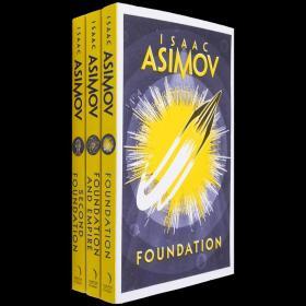 现货英文原版Foundation阿西莫夫基地三部曲合售经典科幻小说