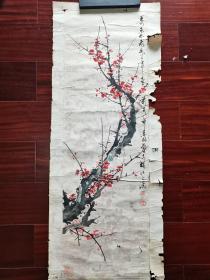 揭阳画院院长,广东省美术家协会会员、揭阳市美术家协会副主席卓素铭国画《梅兰竹菊》四条屏,84cm*27cm