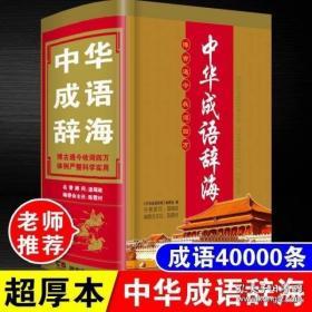 32开大本2021正版初中生小学生中华成语辞海高中生大学实用版辞典新编新华字典 新版汉语成语大词典工具书功能高考成人成语词典