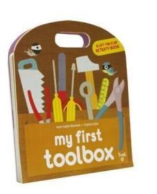 【原版】我的首套工具箱 英文原版 My First Toolbox 童书 我的工具箱 幼儿硬页书 宝宝认知操作书 工具书 拉拉书