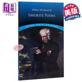 【原版】华兹华斯诗选 英文原版 Favorite Poems Dover Thrift Editions William Wordsworth