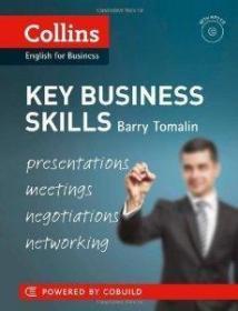 【原版】 柯林斯关键商务技能 英文原版 Key Business Skills/Barry Tomalin/Collins CD