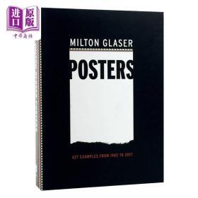 米尔顿格拉塞海报合辑:1965-2017年的450张海报 进口艺术 Milton Glaser Posters 艺术平面海报图标设计【原版】