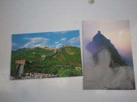 长城   明信片   2张