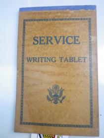 约民国 空白笔记本   SER VICE      WRITING TABLET  写字本   45 张