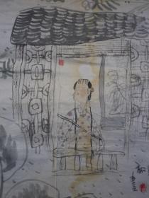 朱新昌 上海中国画院画师、 人物画  2张