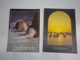 外国风景  摄影  明信片 6张  32K