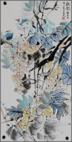 冯志光、花鸟画