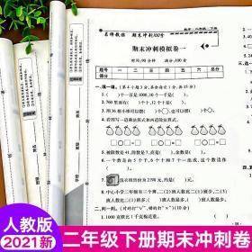 二年级下册语文+数学(共2本)期末总复习模拟试卷期末冲刺100分