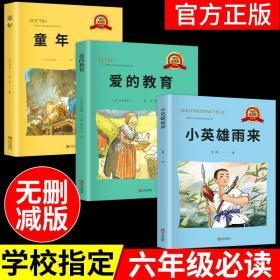 爱的教育小英雄雨来童年书全套高尔基原著完整版老师小学生六年级必读课外阅读书籍6上册上学期三四五经典名著快乐读书吧S