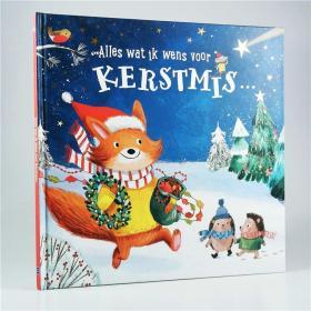 I20 荷兰语原版 Alles wat ik wens voor kerstmis 圣诞绘本 精装.