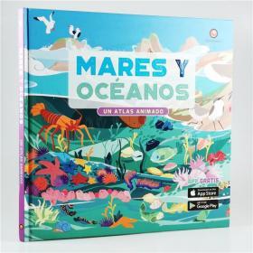 I18 西班牙语原版 水生物百科 Mares y Oceanos地理插图集 大精装.