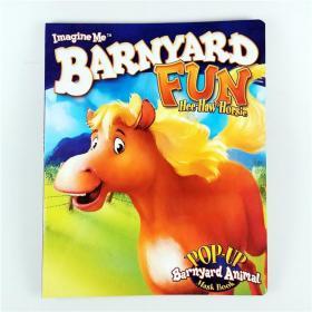 I2 纸板立体面具书 Barnyard Fun--Hee Haw Horsie 英文原版.