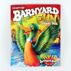 I2 纸板立体面具书 Barnyard Fun--Quacky Duck 英文原版.