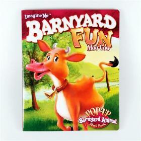 I2 纸板立体面具书 Barnyard Fun--Moo Cow 英文原版.